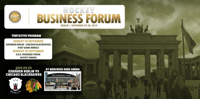 3rd E H C  Hockey Business Forum in Berlin, 29-30 Sept