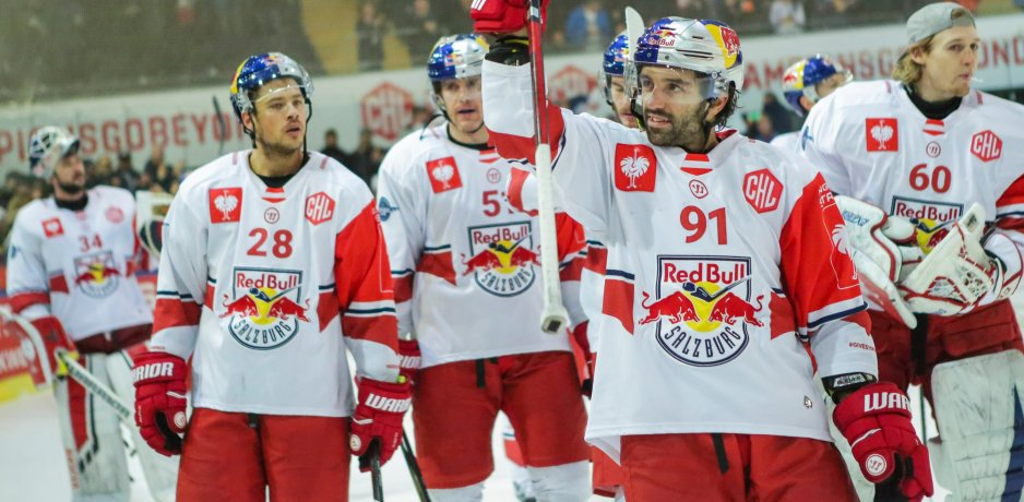 Red Bull faceoff: Salzburg vs München in CHL Semi-Finals